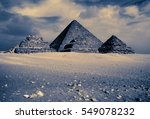 egyptian pyramids in a moon... | Shutterstock . vector #549078232