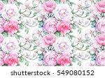 seamless composition with white ... | Shutterstock . vector #549080152