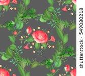 seamless pattern of rose flower ... | Shutterstock .eps vector #549080218