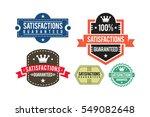satisfactions guaranteed set of ... | Shutterstock .eps vector #549082648