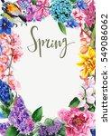 spring flowers card | Shutterstock . vector #549086062
