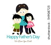 jpeg happy father's day... | Shutterstock . vector #54908725