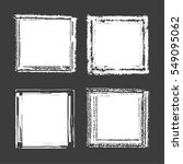 set of white ink grunge frames... | Shutterstock .eps vector #549095062