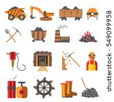 icons set of mining coal... | Shutterstock .eps vector #549099958
