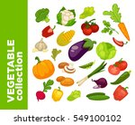 vegetables icons set.... | Shutterstock .eps vector #549100102