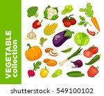 vegetables icons set.... | Shutterstock .eps vector #549100102