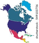colorful north america map | Shutterstock .eps vector #549103756