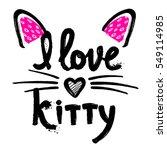 t shirt design for girls  child ... | Shutterstock .eps vector #549114985