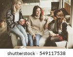friends enjoying  in... | Shutterstock . vector #549117538