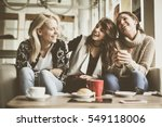 girls having fun at home ... | Shutterstock . vector #549118006