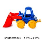 Toy Tractor Isolated On A White ...
