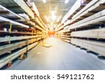 blurred stack new wooden bar on ... | Shutterstock . vector #549121762