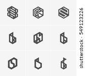 modern abstract vector logo or... | Shutterstock .eps vector #549123226
