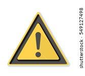 exclamation danger sign | Shutterstock . vector #549127498