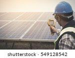 engineer or electrician working ... | Shutterstock . vector #549128542