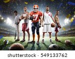 multi sports proud players... | Shutterstock . vector #549133762