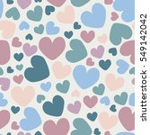 vintage colors seamless pattern ... | Shutterstock .eps vector #549142042