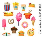 cartoon street food icon... | Shutterstock .eps vector #549142132