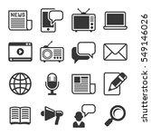 media news icon set on white... | Shutterstock .eps vector #549146026