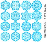 set snowflakes icons on white... | Shutterstock .eps vector #549146956