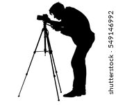 cameraman with video camera.... | Shutterstock .eps vector #549146992