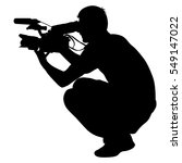 cameraman with video camera.... | Shutterstock .eps vector #549147022