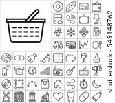 set of universal icons.... | Shutterstock .eps vector #549148762