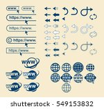 web site icons set. website... | Shutterstock .eps vector #549153832