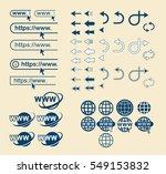 web site icons set. website... | Shutterstock .eps vector #549153832