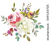 pastel  watercolour floral ... | Shutterstock . vector #549154705
