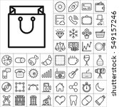 set of universal icons.... | Shutterstock .eps vector #549157246