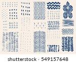 vector hand drawn textures.... | Shutterstock .eps vector #549157648