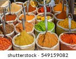 indian spices at the market in... | Shutterstock . vector #549159082