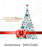 christmas tree from beautiful... | Shutterstock . vector #549173182