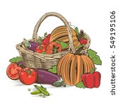 basket of vegetables | Shutterstock . vector #549195106