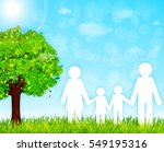 happy family vector background | Shutterstock .eps vector #549195316