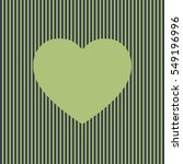 olive heart icon on striped...   Shutterstock .eps vector #549196996