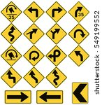 road signs in the united states.... | Shutterstock .eps vector #549199552