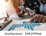 business team meeting present... | Shutterstock . vector #549199966