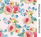 english roses seamless pattern. ... | Shutterstock .eps vector #549205066