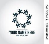 social relationship logo and... | Shutterstock .eps vector #549208492