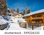 Wood Chalet In Winter Resort...