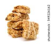 oatmeal  almond and honey... | Shutterstock . vector #549226162