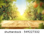 wooden table place of free... | Shutterstock . vector #549227332