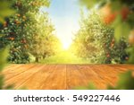 wooden table place of free... | Shutterstock . vector #549227446
