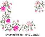 illustration with pink floral...   Shutterstock .eps vector #54923833