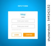 simple input form with orange... | Shutterstock .eps vector #549242152