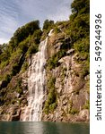 Small photo of Waterfall in the Vicente Perez Rosales National Park, Sector Puella, Chile, South America