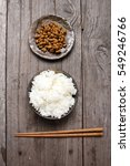 Natto With Cooked Rice Japanes...