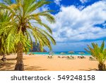 beach in tenerife  canary... | Shutterstock . vector #549248158